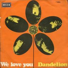 THE ROLLING STONES - WE LOVE YOU - ITALY - 45-F12654 - XDR 41128 - pic 1
