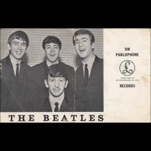 1962 A THE  BEATLES SIGNED PARLOPHONE PROMO CARD (GEORGE AND JOHN) -1 - pic 1