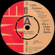 BILLY J. KRAMER & THE DAKOTAS - LITTLE CHILDREN ⁄  BAD TO ME - EMI 2546 - UK - PROMO - pic 3