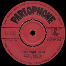 BILLY J. KRAMER WITH THE DAKOTAS - BAD TO ME ⁄ I CALL YOUR NAME - 45-DPY 651 - FINLAND - pic 5