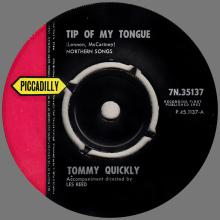 TOMMY QUICKLY - TIP OF MY TONGUE - PICCADILLY - 7N.35137 ⁄ P.45 1137-A - UK - pic 1