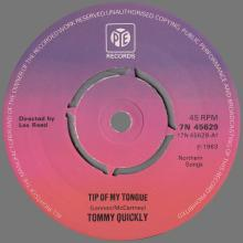 TOMMY QUICKLY - TIP OF MY TONGUE - PYE - 7N 45629 A - SWEDEN 1976 10 00 - pic 1