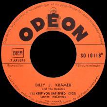 BILLY J. KRAMER WITH THE DAKOTAS - I'LL KEEP YOU SATISFIED - SO 10118 - FRANCE - pic 1