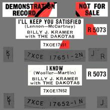 BILLY J. KRAMER WITH THE DAKOTAS - I'LL KEEP YOU SATISFIED - UK PROMO - pic 1