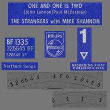 THE STRANGERS WITH MIKE SHANNON - ONE AND ONE IS TWO - BF 1335 - UK - pic 1