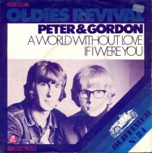 PETER AND GORDON - A WORLD WITHOUT LOVE - GERMANY - 1C 006-05 574 M - 1978 - pic 1