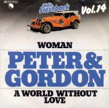 PETER AND GORDON - A WORLD WITHOUT LOVE - WOMAN - GERMANY - 1C 006-07 025 - 1978 - pic 1