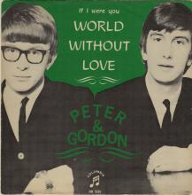 PETER AND GORDON - A WORLD WITHOUT LOVE - SWEDEN - DB 7225 - GREEN SLEEVE - pic 1