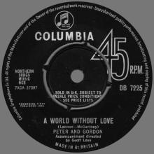 PETER AND GORDON - A WORLD WITHOUT LOVE - UK - DB 7225 - pic 1