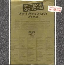 PETER AND GORDON - A WORLD WITHOUT LOVE - WOMAN - UK - G45 42 - 1985  - pic 1
