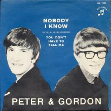 PETER AND GORDON - NOBODY I KNOW - DB 7292 - SWEDEN - pic 1
