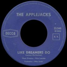 THE APPLEJACKS - LIKE DREAMERS DO - BELGIUM - 23.540 - DR 33 224 - pic 1