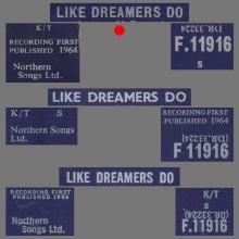 THE APPLEJACKS - LIKE DREAMERS DO - UK VARIATION 1 - F.11916 - pic 1