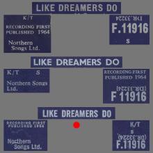 THE APPLEJACKS - LIKE DREAMERS DO - UK VARIATION 3 - F.11916 - pic 1