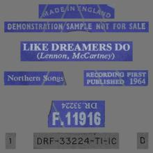 THE APPLEJACKS - LIKE DREAMERS DO - UK - F.11916 - DR. 33224 - PROMO - pic 1