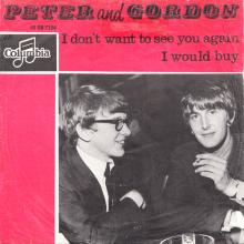 PETER AND GORDON - I DON'T WANT TO SEE YOU AGAIN - HOLLAND - DB 7356 - RED - pic 1