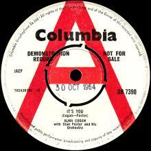 ALMA COGAN - I KNEW RIGHT AWAY - UK - DB 7390 - 1964 10 30 - PROMO - pic 1