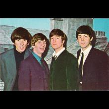 1964 THE BEATLES PHOTO - POSTCARD BELGIUM - CHROMO 11 - 9X6 - pic 1