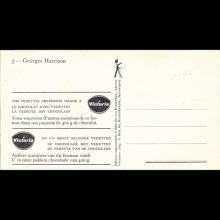 1964 THE BEATLES PHOTO - POSTCARD BELGIUM - CHROMO VICTORIA 03 GEORGES HARRISON - 8X14,5 - pic 1