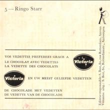 1964 THE BEATLES PHOTO - POSTCARD BELGIUM - CHROMO VICTORIA 05 RINGO STARR - 8X14,5  - pic 1