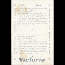 1964 THE BEATLES PHOTO - POSTCARD BELGIUM - CHROMO VICTORIA THE BEATLES (2) - 4,3X6,5 - X 215-217-218  - pic 1