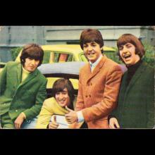 1964 THE BEATLES PHOTO - POSTCARD BELGIUM - CHROMO 36 - 9X6 - pic 1