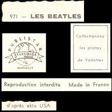 1964 THE BEATLES PHOTO - POSTCARD FRANCE - 971 LES BEATLES PUBLISTAR MARSEILLE - 15X10,5 - pic 1