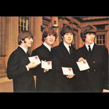 1964 THE BEATLES PHOTO - POSTCARD FRANCE - BIG BEN POITIERS - No 73. POP MUSIC LES BEATLES - 15,6X10,9 - pic 1