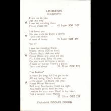 1964 THE BEATLES PHOTO - POSTCARD FRANCE - LES BEATLES DISQUES ODEON - 8,8X13,9 - pic 1