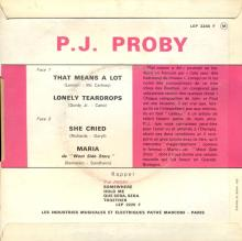 P.J. PROBY - THAT MEANS A LOT - FRANCE - LEP 2240 F - EP - pic 1
