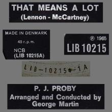 P.J. PROBY - THAT MEANS A LOT - DENMARK - LIB 10215 - pic 1