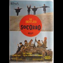 SPAIN 1965 LOS BEATLES SOCORRO - HELP! - MOVIEPOSTER FILMPOSTER 70 X 100 - pic 1