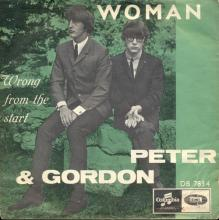 PETER AND GORDON - WOMAN - DB 7834 - NORWAY - pic 1
