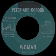 PETER AND GORDON - WOMAN - PL 63.134 - SPAIN  - pic 1