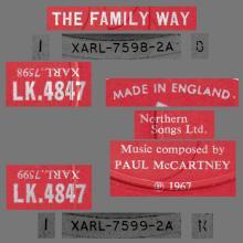 1967 01 06 PAUL McCARTNEY - THE FAMILY WAY ORIGINAL SOUNDTRACK RECORDING - MONO LK 4847 - DECCA - UK - pic 1