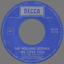 THE ROLLING STONES - WE LOVE YOU - BELGIUM - DECCA - 26.132 - pic 1