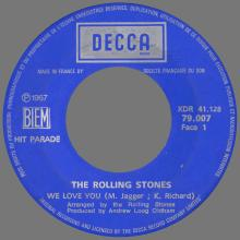 THE ROLLING STONES - WE LOVE YOU - FRANCE - DECCA - 79.007 - XDR 41.128 - pic 1