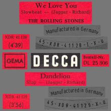 THE ROLLING STONES - WE LOVE YOU - GERMANY - DECCA - DL 25 3062 - XDR 41 128 - pic 1