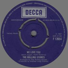 THE ROLLING STONES - WE LOVE YOU - UK - DECCA - F 12654 - pic 1