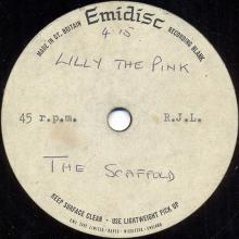 1966uk -TODAY'S MONDAY - McGEARS FIRST 45 ACETATE - 1968uk -LILLY THE PINK - SCAFFOLD - 45 ACETATE - pic 1