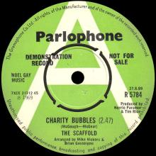 1969 06 27 - THE SCAFFOLD - CHARITY BUBBLES ⁄ GOOSE - UK - R 5784 - PROMO - pic 1