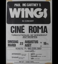 1972 WINGS OVER EUROPE - BELGIAN TOUR POSTER ANTWERP - pic 1