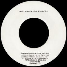 "1975 11 28 - VENUS AND MARS ROCK SHOW ⁄ VENUS AND MARS ROCK SHOW - USA 7"" TEST PRESSING - pic 1"