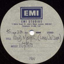 """1975 00 00 - WINGS - WHILLETS - PROUD MOTHER ⁄ TOMORROW - EMI STUDIOS - 7"""" DOUBLE SIDED - ACETATE - pic 1"""