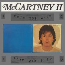 1980 05 16 - PAUL MCCARTNEY - MCCARTNEY II - PCTC 258 - LP - UK TEST PRESSING - pic 1