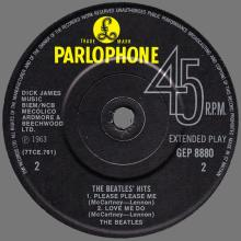 1981 12 07 UK The Beatles E.P.s Collection - GEP 8880 - The Beatles ' Hits - B - pic 1