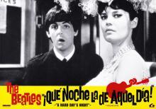 SPAIN 1984 A HARD DAY'S NIGHT - QUE NOCHE LA DE AQUEL DIA - MOVIEPOSTER FILMPOSTER LOBBYCARD - B - 33 X 23 - pic 1