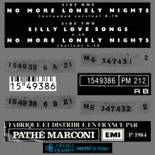 FRANCE 1984 09 24 PAUL McCARTNEY NO MORE LONELY NIGHTS - 1549386 - 5 099915 493866 - 3 TR TEST PRESSING - pic 2