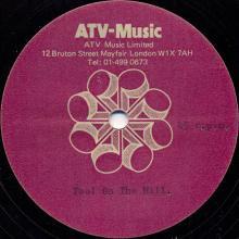 1984 09 24 - PAUL McCARTNEY - FOOL ON THE HILL - ATV MUSIC - ACETATE - pic 1