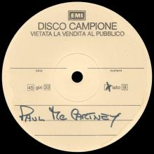1986 07 14 - PAUL MCCARTNEY - PRESS - ITALY - 12 INCH TEST PRESSING - DOUBLE SIDED - pic 1